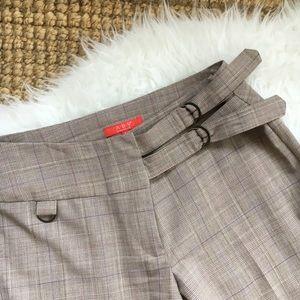 ABS Allen Schwartz Plaid Buckle Front Trousers